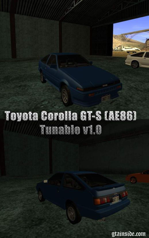 Toyota Corolla GT-S (AE86) Tunable v1.0