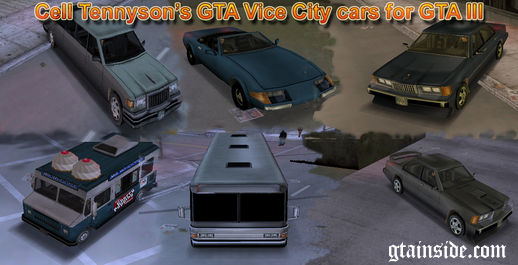 GTA VC Cars for GTA III