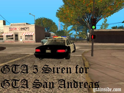 GTA V Siren for GTA SA