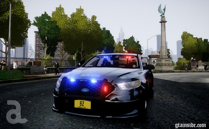 Ford Edge 2013 >> GTA 4 2013 Ford Police Interceptor - Liberty City Police Department Slicktop/Unmarked (ELS) Mod ...