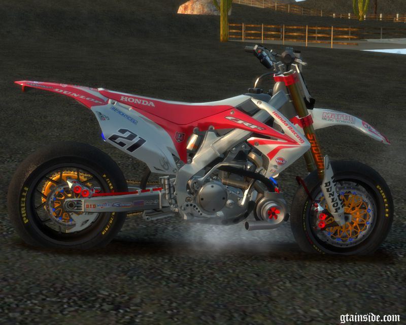 Gta 4 Honda Crf 450 Turbo Motard Mod Gtainside Com