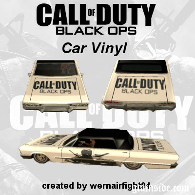 Call Of Duty Black Ops Car Vinyl