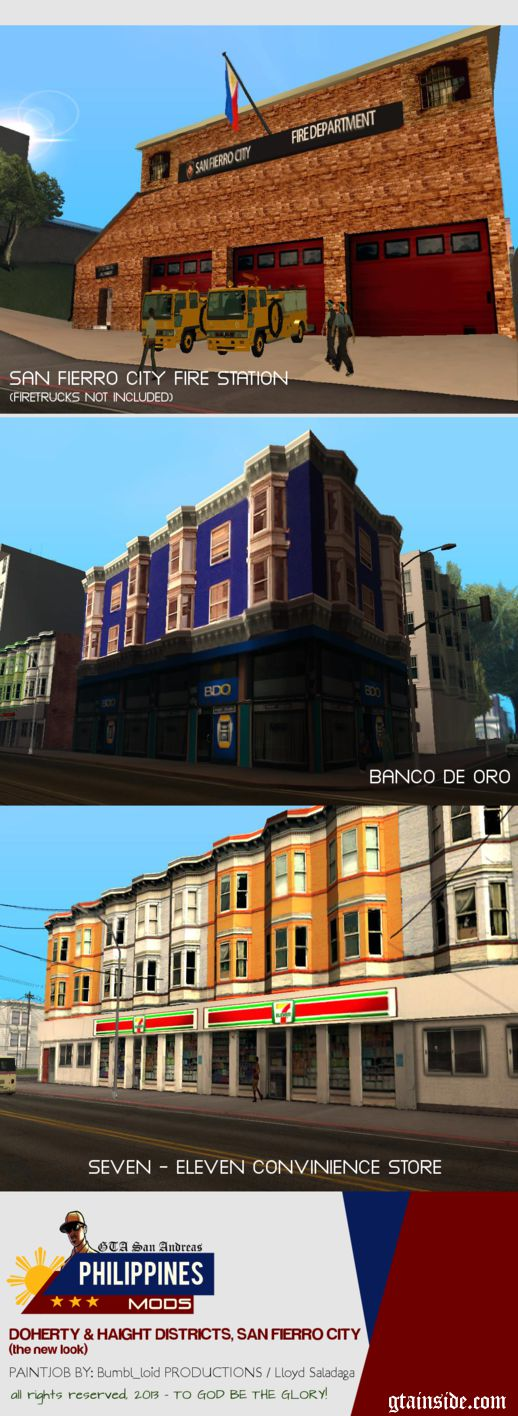 Doherty District and Haight District, San Fierro (Filipino Theme)