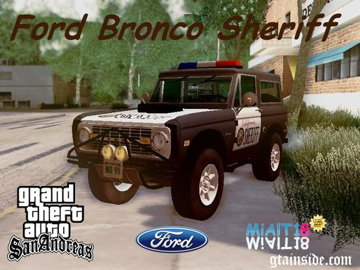 Ford Bronco 1966 Sheriff