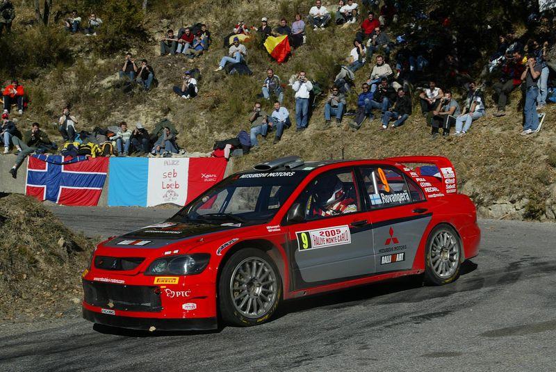 Znalezione obrazy dla zapytania Mitsubishi Lancer EVO 8 Rally 2005 wrc