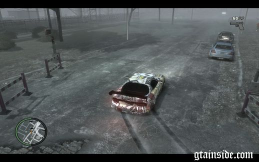 Illegal drift on the street
