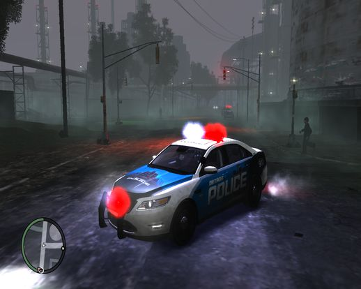 2010 Ford Taurus Police Interceptor Detroit Skin [No els]