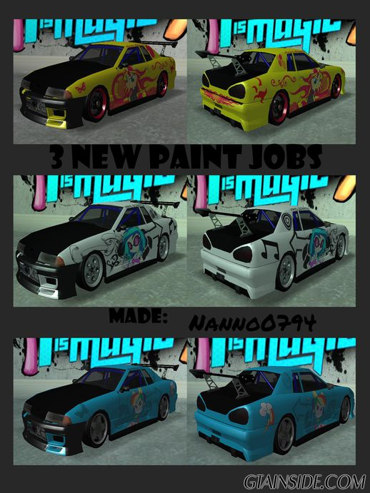 New Elegy Paintjobs EQG Version