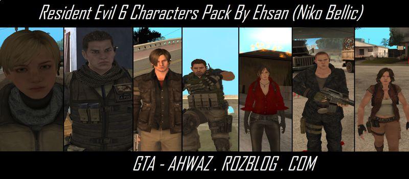 Gta San Andreas Resident Evil 6 Characters Mod Gtainsidecom