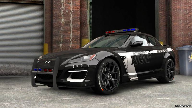 gta 4 mazda rx 8 r3 2011 police v1 mod. Black Bedroom Furniture Sets. Home Design Ideas