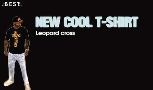 New Cool T-Shirt - Leopard Cross