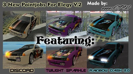 New Elegy Paintjobs V2.0 MLP:Fim