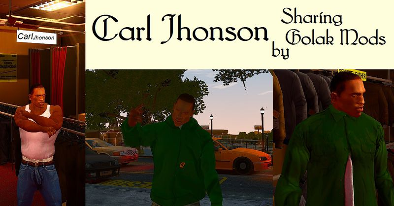 gta 4 carl johnson  cj  player   voice and clothes mod