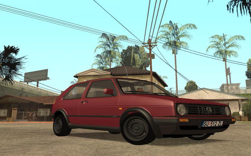 GTA San Andreas Vw Golf Mk2 TAS Mod - GTAinside com