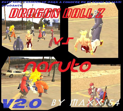 Dragon Ball Z vs Naruto v2