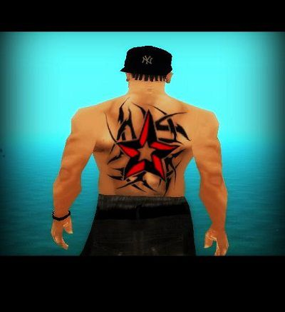 Red Star Tattoo for back