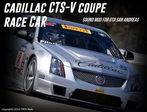 Cadillac CTS-V Coupe Race Car Sound
