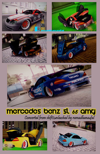 Mercedes Benz SL 65 AMG Racing Edition + 4 Paintjob Shift2Unleashed