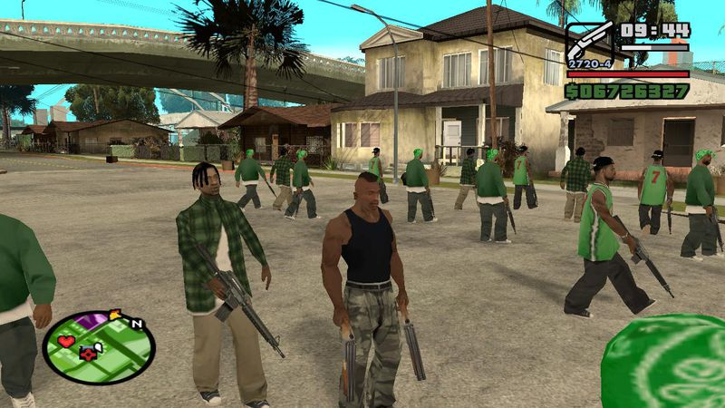 how to start a gang war in gta san andreas