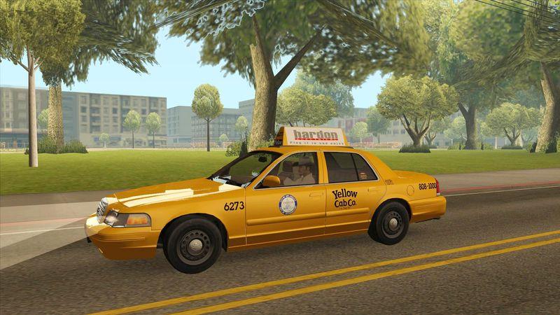 GTA San Andreas Ford Crown Victoria LA Taxi Mod - GTAinside com