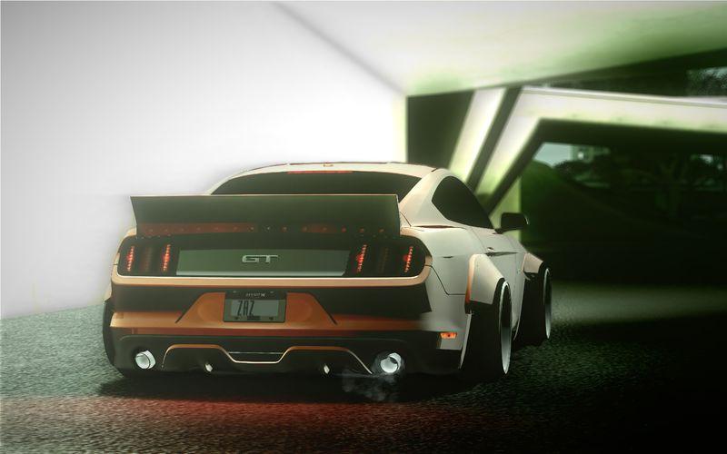 Gta San Andreas 2015 Ford Mustang Rocket Bunny Tkf Mod