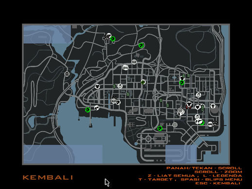 GTA IV Radar & Map convert to San Andreas