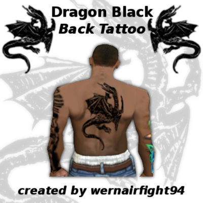 Dragon Black Back Tattoo