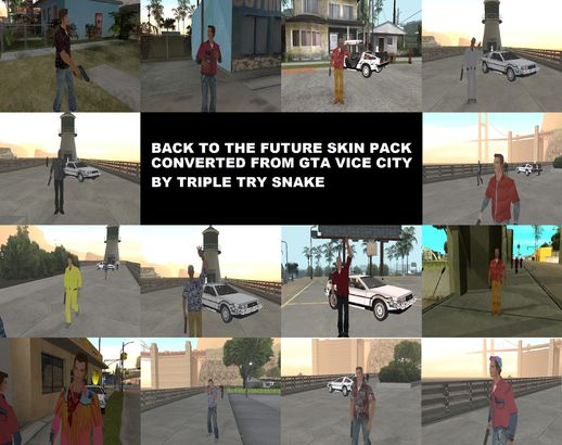 Back to the Future Skin Pack