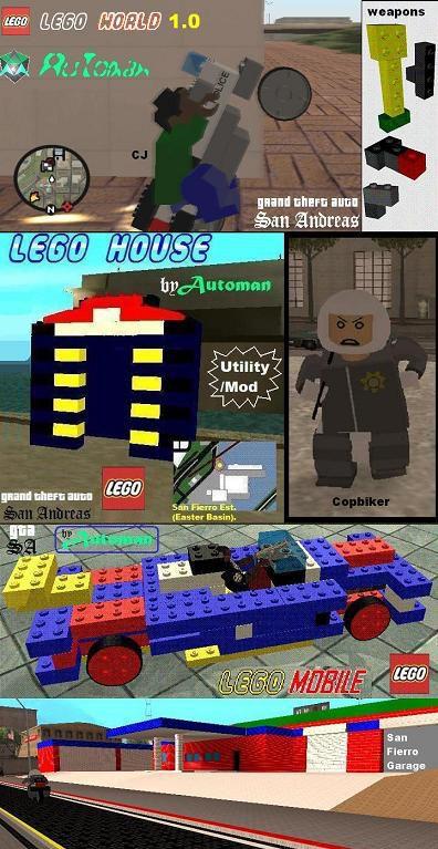 GTA San Andreas Lego World 1.0 Mod - GTAinside.com