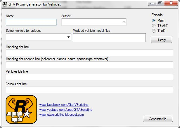 GTA 4  oiv Generator for Vehicles with Backup Mod
