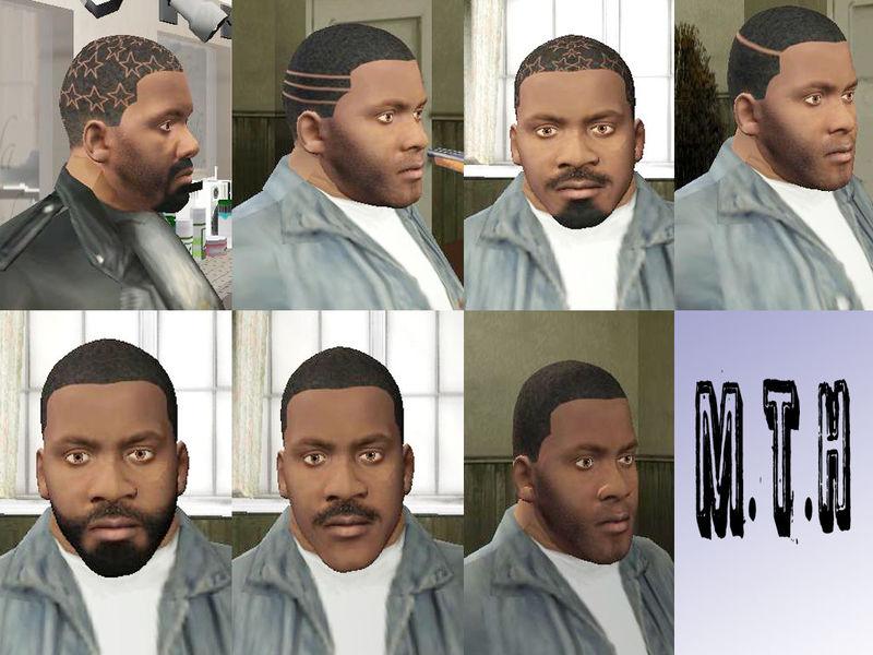 GTA San Andreas Franklin Mod V Mod GTAinsidecom - Bald hairstyle gta 5