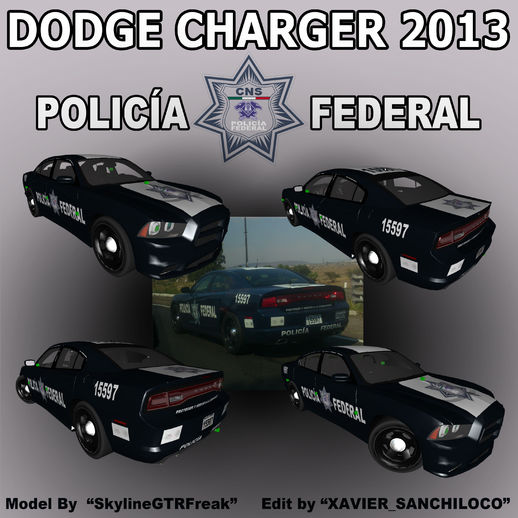 Dodge Charger 2013 Policia Federal Mexico
