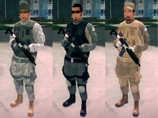 GTA V Merryweather Asian Uniform Soldier