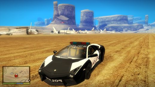NFS Hot Pursuit Lamborghini Reventon Police Car