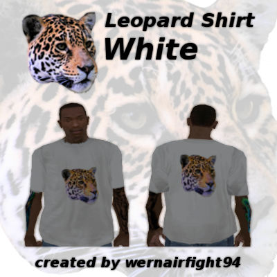 Leopard Shirt White