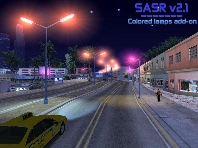 gta sa city night lights mod