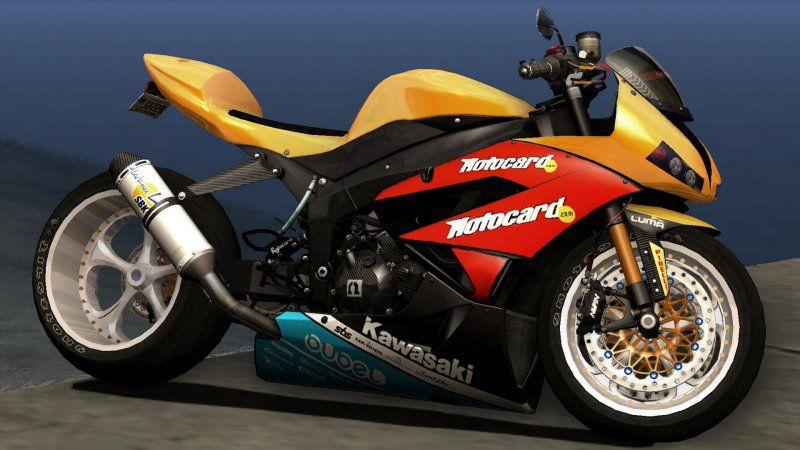 GTA San Andreas Kawasaki Ninja ZX-6R (Ruff Ryders/stock) Mod