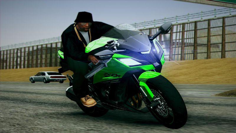 GTA San Andreas 2014 Kawasaki Ninja ZX10R Mod - GTAinside.com