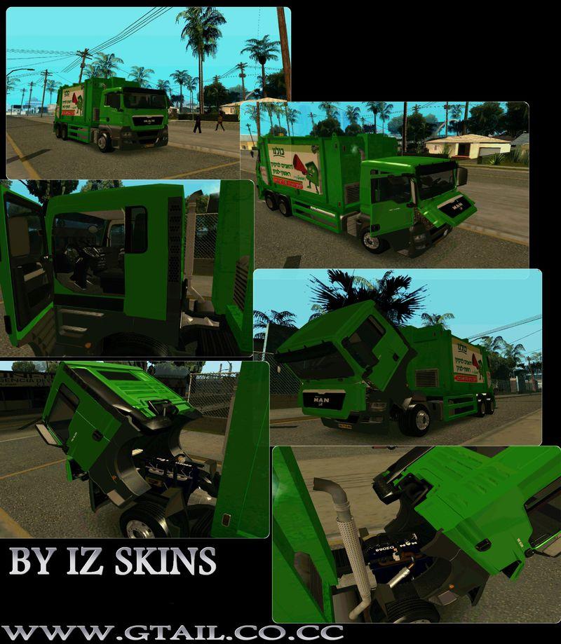 Gta San Andreas Man Tgs 18 320 Trash Truck Mod Gtainside Com