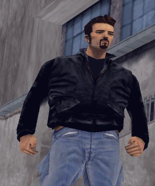 GTA 3 Claude With Blue Jeans And Beard Mod