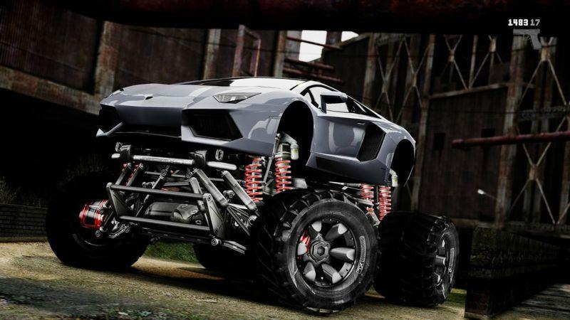 GTA 4 2012 Lamborghini Aventador [EPM] [Monster truck] Mod