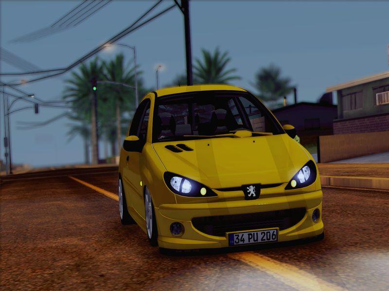 GTA San Andreas Peugeot 206 GTI TMC Mod - GTAinside com