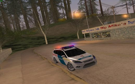 2008 Ford Focus Station Wagon Hungary Police