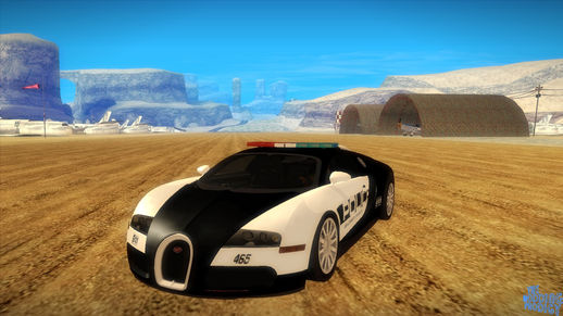 Bugatti Veyron 16.4 NFS Hot Pursuit Police Car