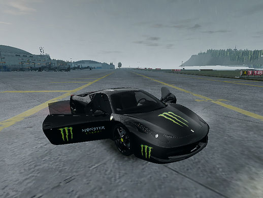 2010 Ferrari 458 MONSTER ENERGY Paint Job
