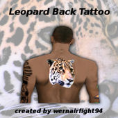 Leopard Back Tattoo