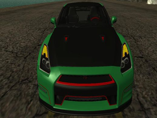 Nissan GTR Black Edition (GDZLLR) NFS MOST WANTED Edition