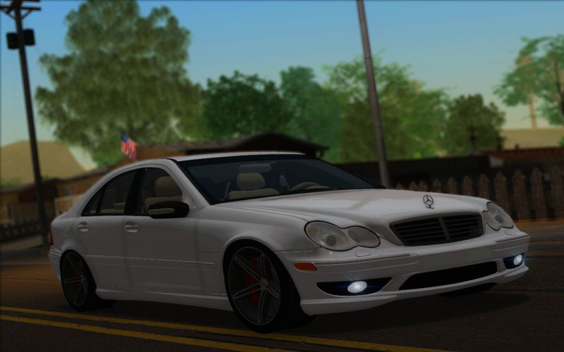 gta san andreas 2004 mercedes benz c32 amg vossen v1 0 mod. Black Bedroom Furniture Sets. Home Design Ideas