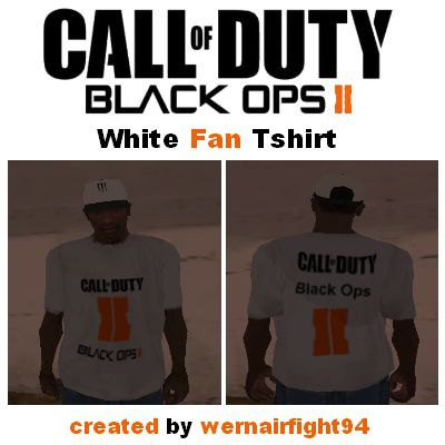 COD Black Ops II White Fan Tshirt