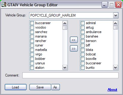 GTA IV Vehicle Group Editor v1.2